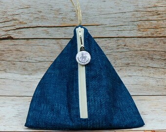 Notion - Dark Blue Woven - Llexical Notions Pouch - Knitting, Crochet, Spinning Accessory Bag