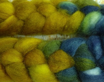 Aladdin's Lamp / Handpainted Llyric SW BFL Combed Top/ 4 oz.