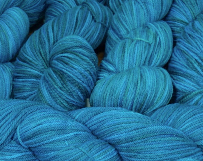 "Llineage Worsted "" Undine "" Semisolid Hand Dyed Yarn 160g / 400 yd"