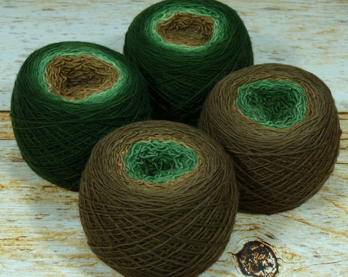 "Full "" Sherwood Forest "" - Llift SW Merino Handpainted Gradient Single Ply Fingering Weight Yarn 100g Skein"