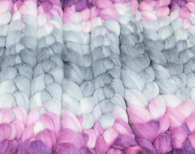 Villain / Lleaf Handpainted SW Merino-Bamboo-Nylon Combed Top/ 4 oz.