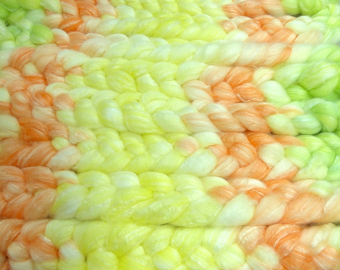 Summer Melons / Handpainted SW Merino-Bamboo-Nylon Combed Top/ 4 oz.