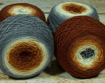 "Full "" Kitsune "" -Lleap Handpainted Gradient Fingering Weight Yarn"