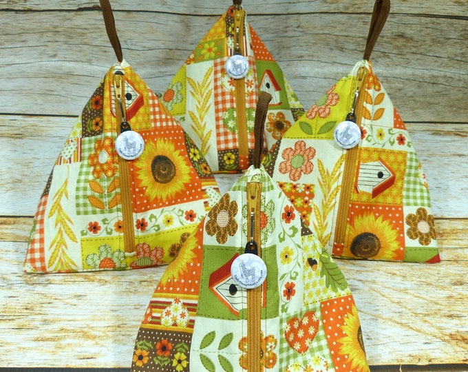 Sunflower Garden - Llexical Notions Pouch - Knitting, Crochet, Spinning Accessory Bag