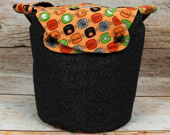 Mini Boo - Medium Llayover Knitting Tote / Knitting, Spinning, Crochet Project Bag