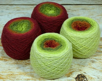 "Full "" Foliage "" - Llift Handpainted Gradient Single Ply Fingering Weight Yarn"