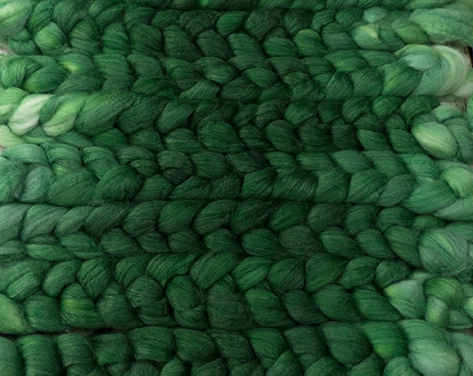 Emerald Isle / Lleaf Handpainted SW Merino-Bamboo-Nylon Combed Top/ 4 oz.