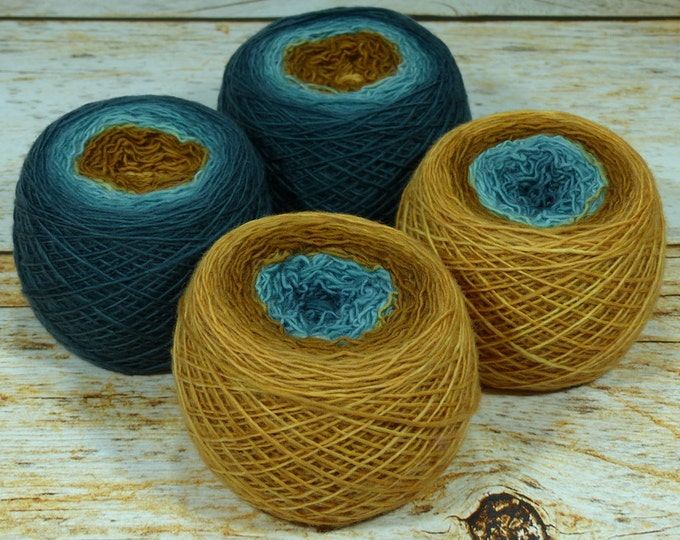 "Full "" Pennies From Heaven "" - Llift Handpainted Gradient Single Ply Fingering Weight Yarn"
