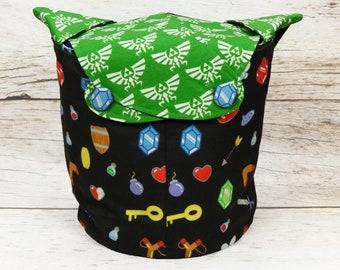Link's World - Medium Llayover Knitting Tote / Knitting, Spinning, Crochet Project Bag