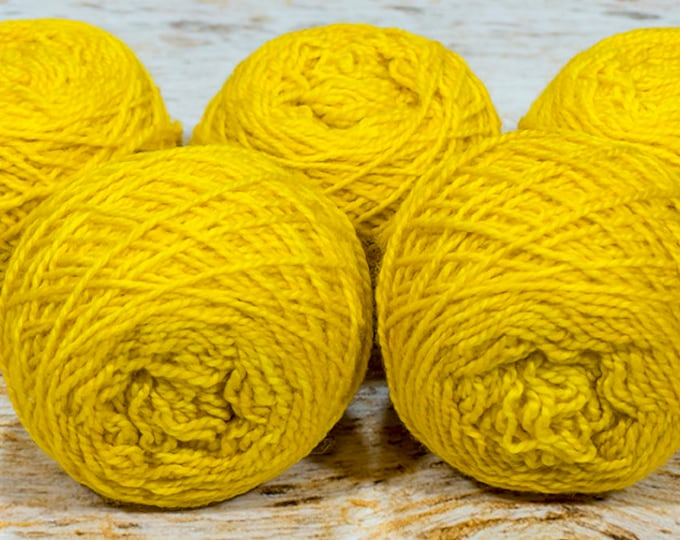 "Wee "" Griffin Gold "" -Lleap Handpainted Semisolid Fingering Weight Yarn Mini Skein"