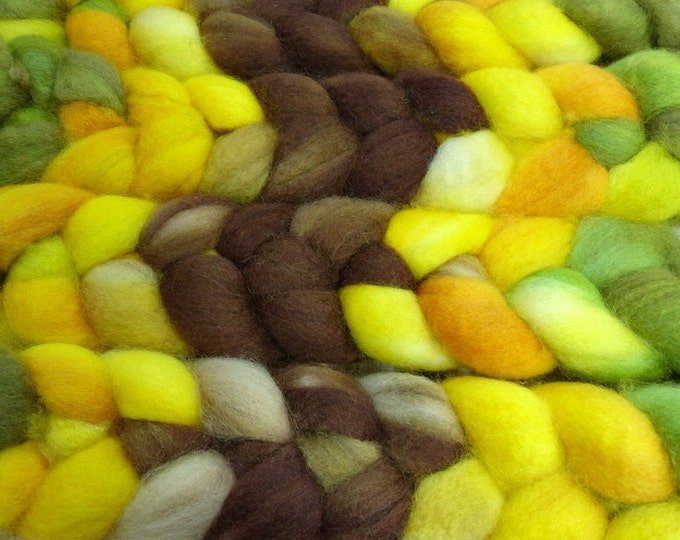 Sunflower Field/ Handpainted Llyric SW BFL Combed Top/ 4 oz.