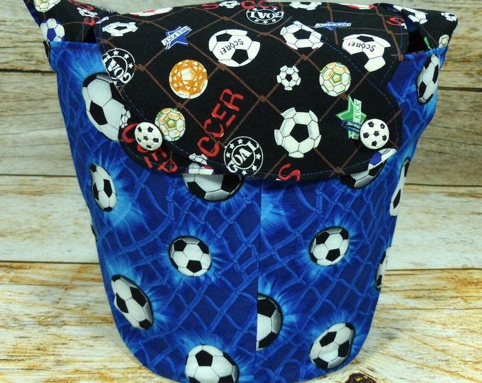 CLEARANCE GOAL! -Medium Llayover Knitting Tote/Knitting, Spinning, Crochet Project Bag