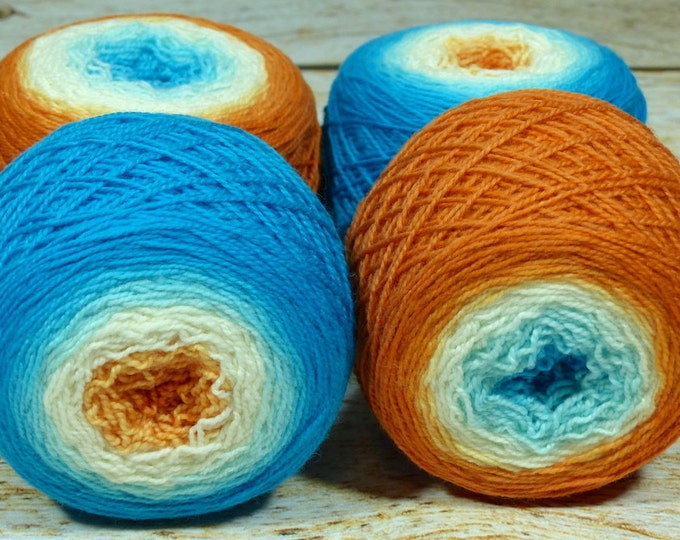 "Full "" Surf Shop "" -Lleap Handpainted Gradient Fingering Weight Yarn"