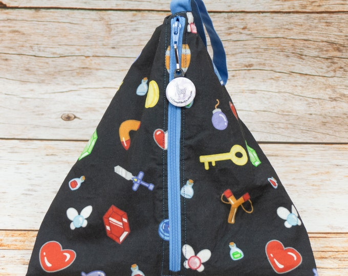 Link's Inventory - Llexical Divided Sock Pouch - Knitting, Crochet, Spinning Project Bag