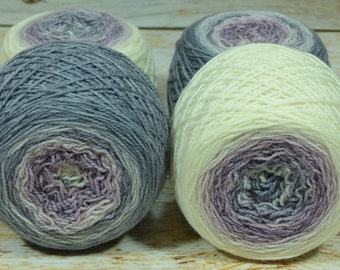 "Full "" Geode"" -Lleap Handpainted Gradient Fingering Weight Yarn"