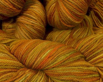 """Llineage Worsted """" Meemaw's Carrot Cake """" Semisolid Hand Dyed Yarn 160g / 400 yd"""