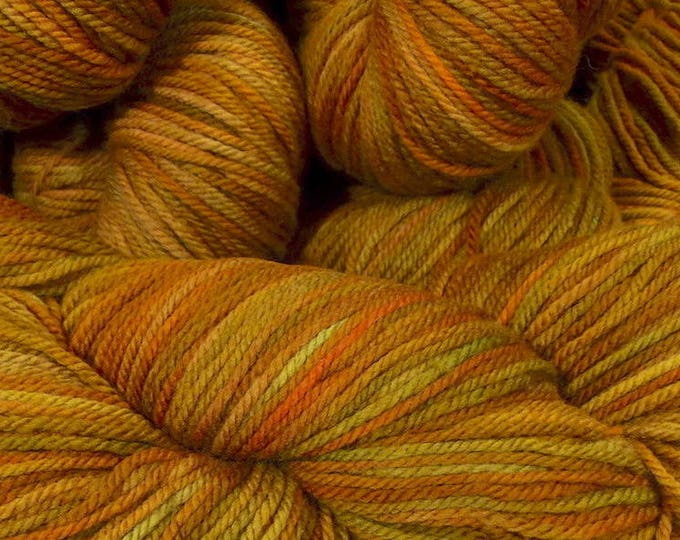 "Llineage Worsted "" Meemaw's Carrot Cake "" Semisolid Hand Dyed Yarn 160g / 400 yd"
