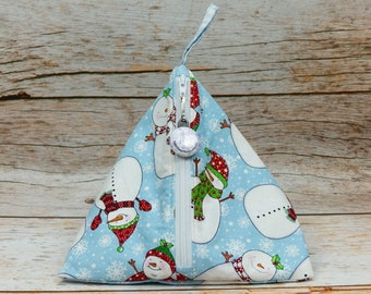 Snow Day - Llexical Notions Pouch - Knitting, Crochet, Spinning Accessory Bag