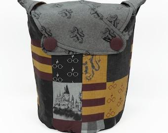 Gryffindor -Small Llayover Knitting Tote/ Knitting, Spinning, Crochet Bag