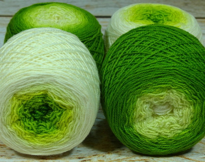 "Full "" Sprout "" -Lleap Handpainted Gradient Fingering Weight Yarn"