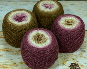 "Full "" Venetian Canal "" -Lleap Handpainted Gradient Fingering Weight Yarn"