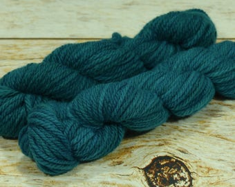 "Wee Llineage Worsted "" Emerald City "" Semisolid Hand Dyed Yarn 20 g / 50 yd"