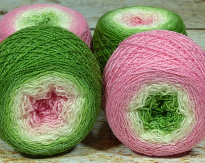 "Full "" Frog Princess "" - Lleap SW Merino/Nylon Handpainted Gradient Fingering Weight Yarn 100g Skein"