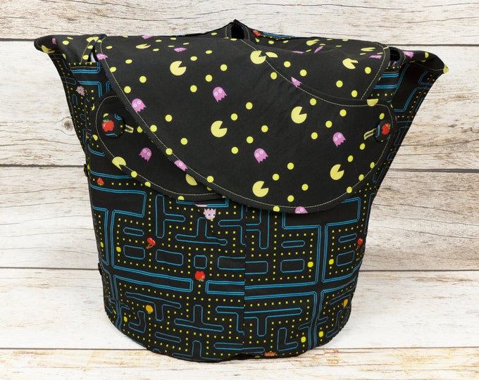 Waka Waka -Large Llayover Tote/ Knitting, Spinning, Crochet Project Bag