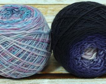 "Colorwork Set "" Galaxy "" -Llift Handpainted Gradient Single Ply Yarn"