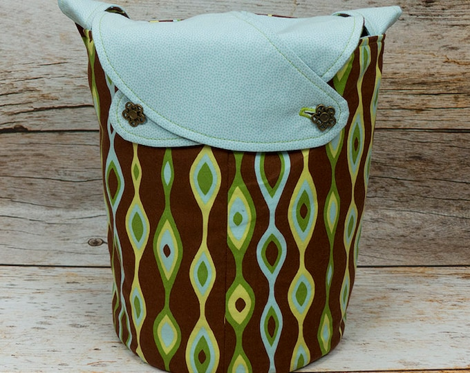 Deco-ration -Small Llayover Knitting Tote/ Knitting, Spinning, Crochet Bag