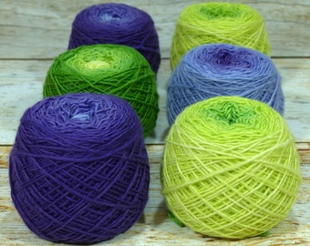 "Colorwork Set "" Rite Of Spring "" -Llift Handpainted Gradient Single Ply Yarn"