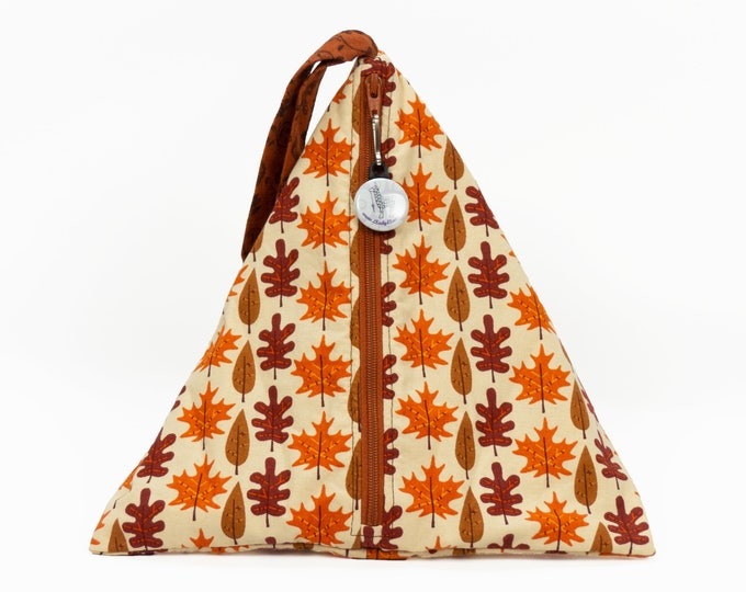 Fall Foliage - Llexical Divided Sock Pouch - Knitting, Crochet, Spinning Project Bag