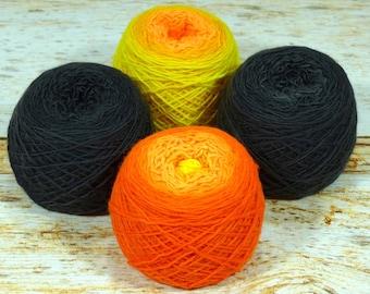 "Colorwork Set "" Salamander "" - Llift Handpainted Gradient Single Ply Yarn Fingering Weight"