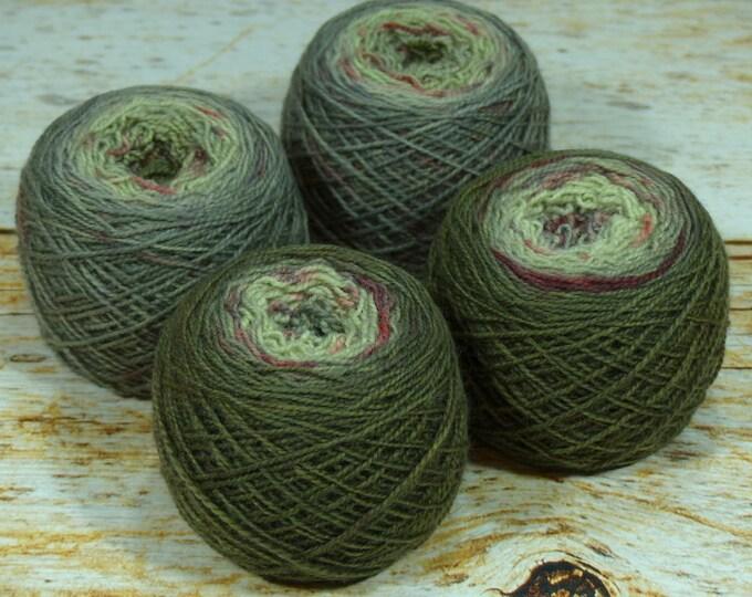"""Fraternal Sock Twins """" Zombie Hunter """" - Llark Handpainted Gradient Splatter Dyed Sock Yarn Set"""