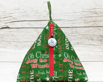 Notion - Holiday Cheer - Llexical Notions Pouch - Knitting, Crochet, Spinning Accessory Bag