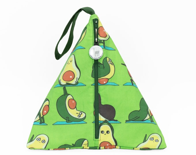 Avocado Yoga - Llexical Divided Sock Pouch - Knitting, Crochet, Spinning Project Bag