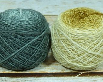 "Colorwork Set "" The Forbidden Room "" -Llift Handpainted Gradient Single Ply Yarn"