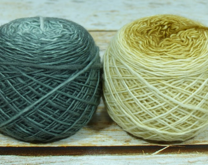 "Colorwork Set "" The Forbidden Room "" -Llift Handpainted Gradient Single Ply Yarn Fingering Weight"