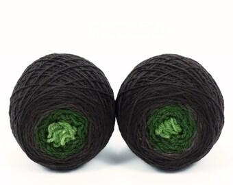 "Sock Twins "" Gnome Home "" -Llively Handpainted Gradient Sock Yarn Set SW Targhee"