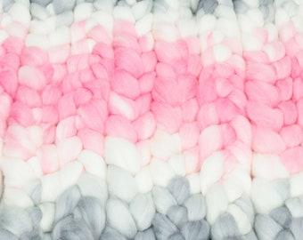 Clara's Dream / Lleaf Handpainted SW Merino-Bamboo-Nylon Combed Top/ 4 oz.