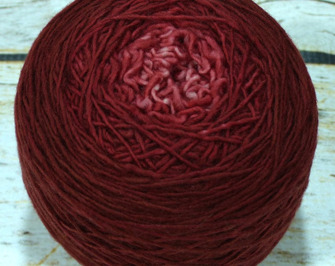 "Full "" Bloodlust "" -Llift Handpainted Gradient Single Ply Fingering Weight Yarn"