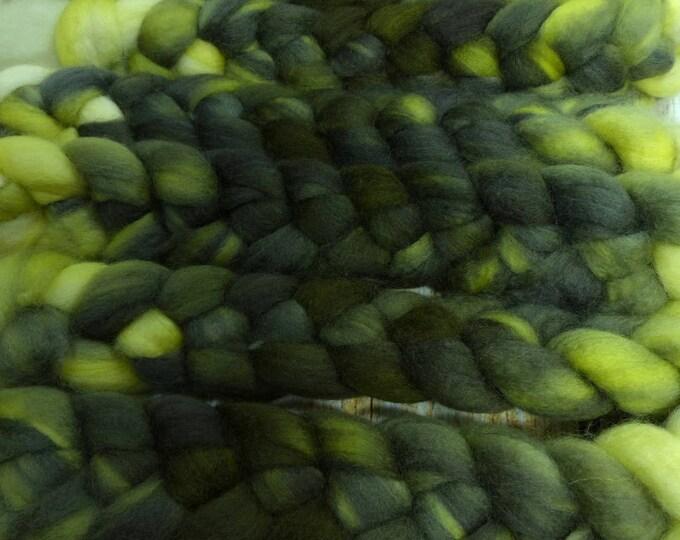 Lichen / Handpainted Llyric SW BFL Combed Top/ 4 oz.
