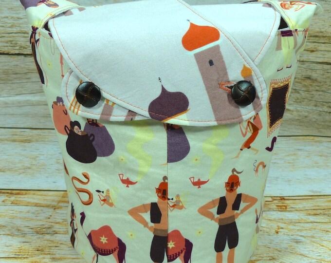 CLEARANCE Arabian Nights -Medium Llayover Knitting Tote/Knitting, Spinning, Crochet Project Bag