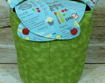 Sugar and Spice - Medium Llayover Knitting Tote/Knitting, Spinning, Crochet Project Bag