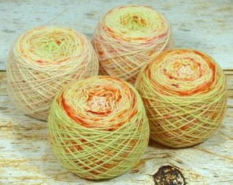 "Fraternal Sock Twins "" Kimchi "" - Llark Handpainted Gradient Speckle Sock Yarn Set"