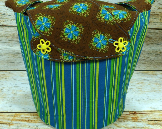 Wallflowers -Medium Llayover Knitting Tote/Knitting, Spinning, Crochet Project Bag