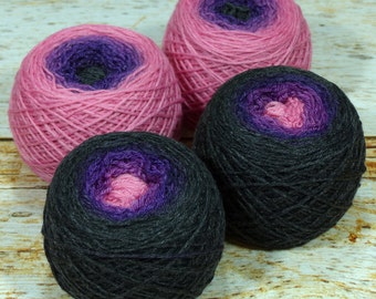 "Sock Twins "" Harajuku "" - Lleaf Handpainted Gradient Sock Yarn Set"