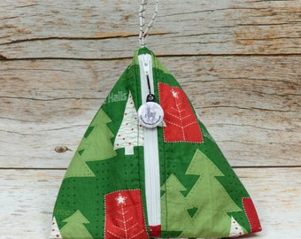 Deck The Halls - Llexical Notions Pouch - Knitting, Crochet, Spinning Accessory Bag