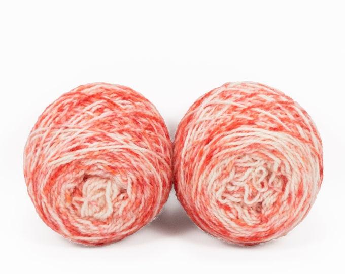 """Fraternal Shorty Sock Twins """" Deadly Poppy Field """" - Llark Handpainted Gradient Speckle Sock Yarn Set"""