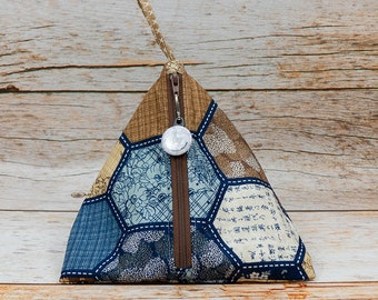 Memory Quilt - Llexical Notions Pouch - Knitting, Crochet, Spinning Accessory Bag